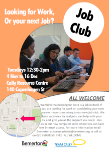Job Club poster for wordpress